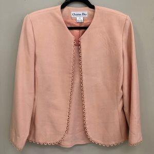 Christian Dior Peach Top & Jacket Set